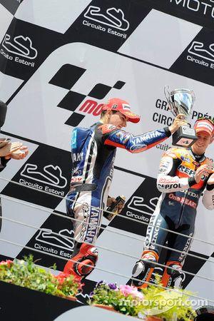 Podio: segundo lugar Jorge Lorenzo, Yamaha Factory Racing