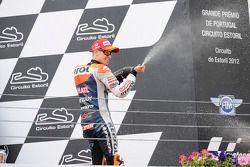 Podio: gandor de la carrera Casey Stoner, Repsol Honda Team