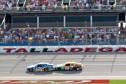 Brad Keselowski, Penske Racing Dodge leads Kyle Busch, Joe Gibbs Racing Toyota to the finish