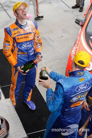 Race winner Will Davison and second place Mark Winterbottom