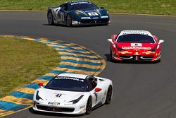 #47 Ferrari of Houston 458CS: Darren Crystal, #8 Ferrari of Ft Lauderdale 458TP, #28 Ferrari of Beve