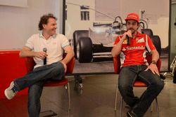 basın toplantısı: Jacques Villeneuve ve Fernando Alonso
