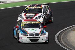 Mehdi Bennani, BMW 320 TC, Proteam Racing and Tiago Monteiro, SEAT Leon WTCC, Tuenti Racing Team