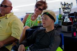 James Rispoli watching the SportBike Race #2 after winning SuperSport Race #2