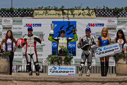 SuperSport Race #2 Podium: First place James Rispoli, Second place Dustin Dominguez, Third place Tomas Puerta