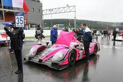 Бас Лейндерс и Давид Хайнемайер Ханссон. Спа, суббота, перед гонкой.