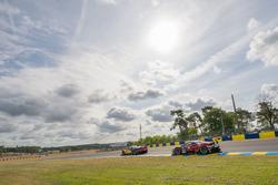 #84 JMW Motorsport Ferrari 488 GTE: Robert Smith, Will Stevens, Dries Vanthoor, #51 AF Corse Ferrari 488 GTE: James Calado, Alessandro Pier Guidi, Lucas di Grassi