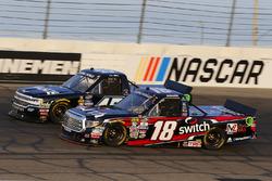 Noah Gragson, Kyle Busch Motorsports Toyota and T.J. Bell, Niece Motorsports Chevrolet