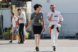 Fernando Alonso, McLaren, Silvia Hoffer Frangipane, McLaren Press Officer