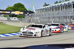 #8 TA Ford Mustang, Tomy Drissi, Tony Ave Racing, #59 TA Chevrolet Corvette driven Simon Gregg, Derhaag Motorsports