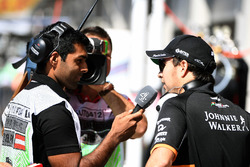 Sergio Perez, Sahara Force India, Karun Chandhok