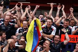 The Williams F1 Team celebrates Pastor Maldonado's victory