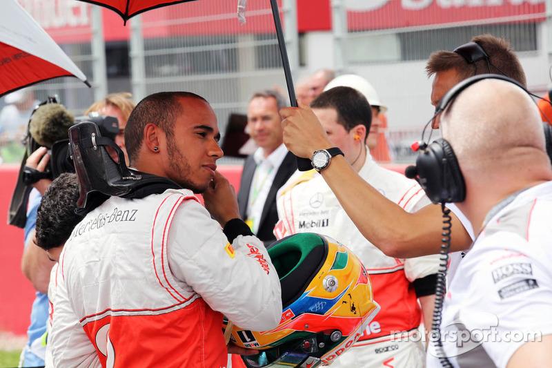 Lewis Hamilton, McLaren op de grid