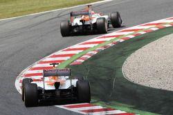 Paul di Resta, Sahara Force India aventaja a Nico Hulkenberg, Sahara Force India F1