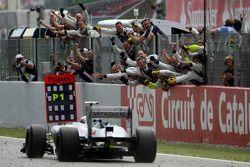 Il vincitore Pastor Maldonado, Williams F1 Team
