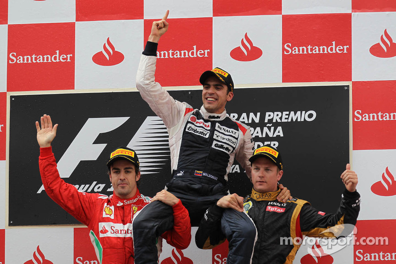 GP da Espanha: Surpresa, Maldonado vence de Williams