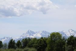 The Pyrenees, seen from Pau