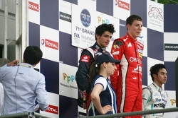 Podium - Carlos Sainz Jr, Raffaele Marciello, Jazeman Jaafar