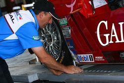 Technische inspectie P2 #99 GAINSCO / Bob Stallings Racing Corvette