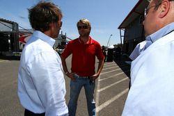 Leigh Diffy en Calvin Fish van Speed, met Ryan Dalziel van StarWorks Motorsport