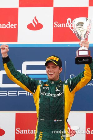 Podium: race winner Giedo van der Garde