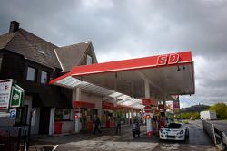 Het tankstation op Döttinger Höhe