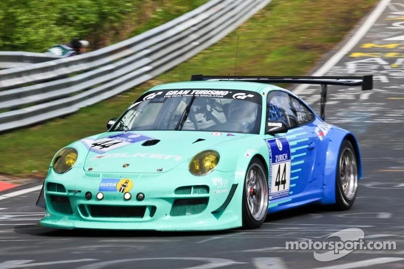 #44 Falken Motorsports Porsche 997 GT3 R: Wolf Henzler, Peter Dumbreck, Martin Ragginger, Sebastian Asch