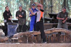 Craig Lowndes en Mark Winterbottom gaan vissen