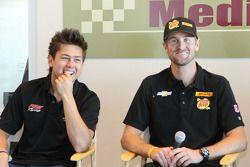Sebastian Saavedra, AFS Racing/Andretti Autosport Chevrolet, Ryan Hunter-Reay, Andretti Autosport Ch