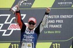 Podio: carrera ganador Jorge Lorenzo, Yamaha Factory Racing