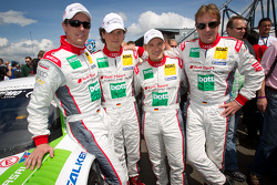 Thomas Mutsch, Luca Ludwig, Christian Hohenadel en Frank Biela