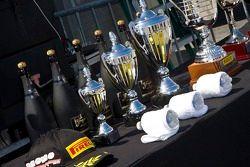 Trofeeën voor de Ferrari 458 Challenge