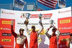 Race winnaar en podium #2 Ferrari of Ft. Lauderdale Ferrari 458 Challenge: Alex Popow