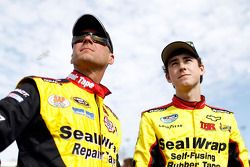 Ryan Blaney with father Dave Blaney