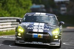 #123 Team GT Academy Nissan GT-R: Kazunori Yamauchi, Yasukichi Yamamoto, Tobias Schulze, Lucas Ordon