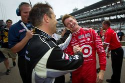 Pit stop challenge: winner Scott Dixon celebrates with Oriol Servia, Dreyer & Reinbold Racing Chevro