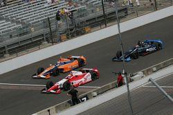 Justin Wilson, Dale Coyne Racing Honda, Charlie Kimball, Novo Nordisk Chip Ganassi Racing Honda and