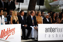 HSH Prince Albert of Monaco, CEO Formula One Group, at the Amber Lounge Fashion Show