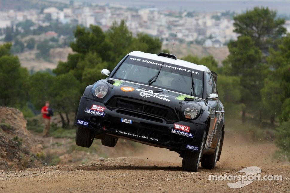 The Mini John Cooper Works WRC that Atkinson will race starting in Germany