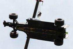 De Williams Pastor Maldonado wordt weggetakeld na opgave
