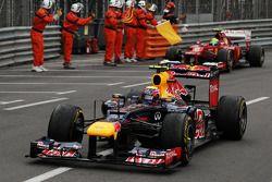 Race winnaar Mark Webber, Red Bull Racing