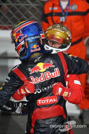 Mark Webber, Red Bull Racing et Fernando Alonso, Scuderia Ferrari