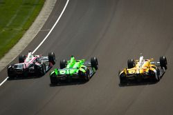 Ryan Briscoe, Team Penske Chevrolet, James Hinchcliffe, Andretti Autosport Chevrolet, Ryan Hunter-Re
