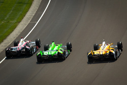 Ryan Briscoe, Team Penske Chevrolet, James Hinchcliffe, Andretti Autosport Chevrolet, Ryan Hunter-Re
