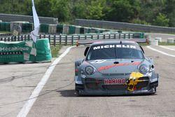 Romain Dumas in the specially prepared Porsche 911 GT3 R