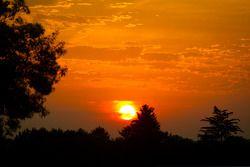 Le soleil se lève sur l'Indianapolis Motor Speedway