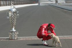 Sesión de fotos de los ganadores: Dario Franchitti, Target Chip Ganassi Racing Honda