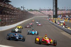 Sebastian Saavedra, AFS Racing/Andretti Autosport Chevrolet and Rubens Barrichello, KV Racing Technology Chevrolet