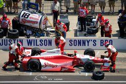 Pit stop de Justin Wilson, Dale Coyne Racing Honda