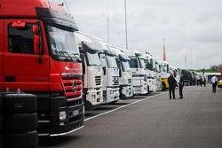 Transporters op een rij